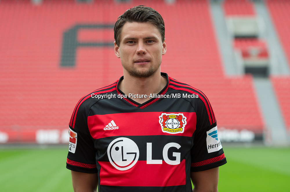 German Soccer Bundesliga 2015/16 - Photocall Bayer 04 Leverkusen on 13 July 2015 in Leverkusen, Germany: Sebastian Boenisch.