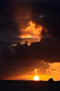 Sunset, Saltpond Bay, St. John, U.S. Virgin Islands.