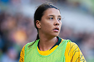 MELBOURNE, VIC - MARCH 06: Samantha Kerr (20) of Australia looks on during The Cup of Nations womens soccer match between Australia and Argentina on March 06, 2019 at AAMI Park, VIC. (Photo by Speed Media/Icon Sportswire)