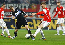 10.12.2011, Coface Arena, Stuttgart, GER, 1.FBL, 1. FSV Mainz 05 vs Hamburger SV, Marcell JANSEN, HSV - Jan KIRCHHOFF, FSV Mainz // during the match from GER, 1.FBL, 1. FSV Mainz 05 vs Hamburger SV on 2011/12/10, Coface Arena, Mainz, Germany. EXPA Pictures © 2011, PhotoCredit: EXPA/ nph/ A.Huber..***** ATTENTION - OUT OF GER, CRO *****