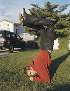 Teenager Doing Elbow Stand