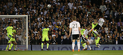 Denis Odoi ( R ) of Fulham scores to make it 2-0 - Mandatory by-line: Paul Terry/JMP - 14/05/2018 - FOOTBALL - Craven Cottage - Fulham, England - Fulham v Derby County - Sky Bet Championship Play-off Semi-Final