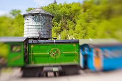 The Mount Washington Cog Railway in Bretton Woods, New Hampshire.