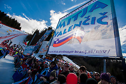 Fans of VALENCIC Mitja of Slovenia during the Men's Slalom - Pokal Vitranc 2012 of FIS Alpine Ski World Cup 2011/2012, on March 11, 2012 in Vitranc, Kranjska Gora, Slovenia.  (Photo By Vid Ponikvar / Sportida.com)