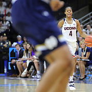 Moriah Jefferson, UConn, in action during the Notre Dame Vs UConn Women's Basketball game at Grampel Pavilion, Storrs, Connecticut, USA. 5th December 2015. Photo Tim Clayton