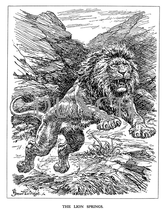 The Lion Springs. (the British Lion pounces for its invasion of Sicily and the start of the Italian Campagn)