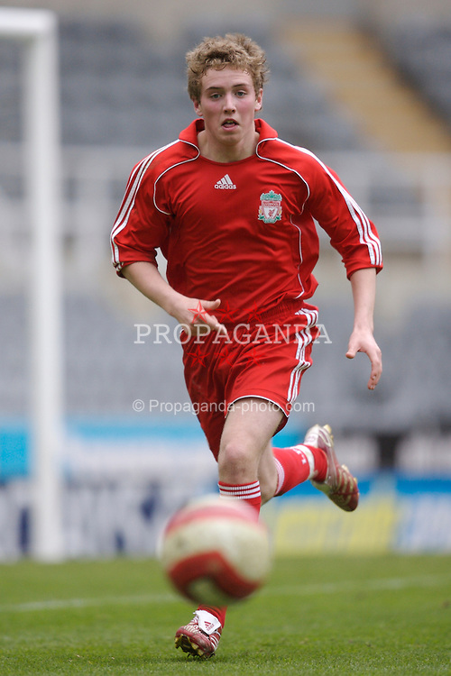Newcastle, England - Saturday, March 10, 2007: Liverpool's Steven Irwin in action against Newcastle United during the FA Youth Cup Semi Final 1st Leg at St James' Park. (Pic by David Rawcliffe/Propaganda)