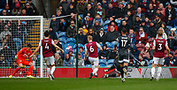 Football - 2019 / 2020 Premier League - Burnley vs. Leicester City<br /> <br /> Harvey Barnes  of Leicester City scores  at Turf Moor.<br /> <br /> COLORSPORT