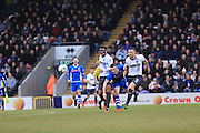 Tom Soares, Donal McDermott, Peter Clarke during the Sky Bet League 1 match between Rochdale and Bury at Spotland, Rochdale, England on 12 March 2016. Photo by Daniel Youngs.