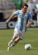 JUNE 09 2012:   Lionel Messi (10) of Argentina l during an international friendly match against Brazil at Metlife Stadium in East Rutherford,New Jersey. Argentina won 4-3.