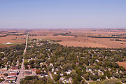 Aerial photograph of Malvern, Mills County, Iowa, USA.