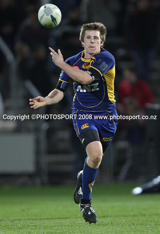 Chris Noakes on attack.<br /> Air NZ Cup, Otago v Hawkes Bay, Carisbrook, Dunedin, Friday 29 August 2008. Photo: Rob Jefferies/PHOTOSPORT