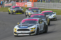 #19 Chad McCumbee / Jade Buford Multimatic Motorsports Ford Mustang GT4 Silver GT4  during British GT Championship race two as part of the British F3 / GT Championship at Oulton Park, Little Budworth, Cheshire, United Kingdom. April 22 2019. World Copyright Peter Taylor/PSP. Copy of publication required for printed pictures.