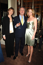 Left to right, PATRICK & SARAH REARDON and his daughter KATE REARDON at a party to celebrate the publication of Top Tips For Girls by Kate Reardon held at Claridge's, Brook Street, London on 28th January 2008.<br />