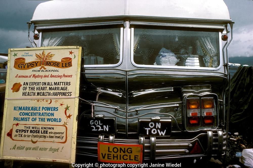 Gypsy Rose Lee's caravan for fortune telling.