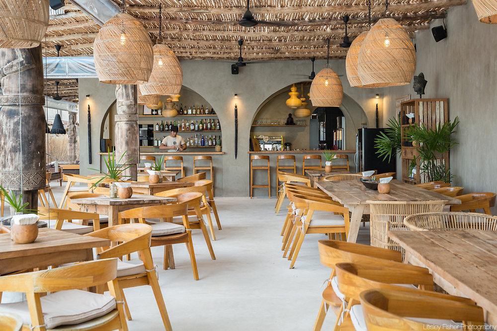 Bar and restauratnt at Karma Beach Resort, a unique resort located on Bophut Beach, Koh Samui, Thailand