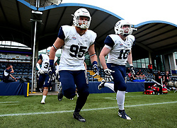 London Blitz run out in to Sixways Stadium for the BAFA Britbowl National League Finals 2017 - Mandatory by-line: Robbie Stephenson/JMP - 26/08/2017 - AMERICAN FOOTBALL - Sixways Stadium - Worcester, England - Tamworth Phoenix v London Blitz - BAFA Britbowl National League Finals 2017