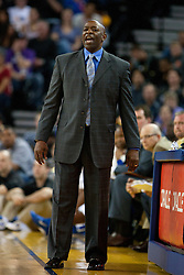 April 10, 2011; Oakland, CA, USA;  Golden State Warriors head coach Keith Smart on the sidelines against the Sacramento Kings during the first quarter at Oracle Arena.