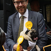 London,England,UK. 31th May 2017. George Turner is a Vauxhall candidate join Lib Dem Nick Clegg unviel a hard-hitting poster attacking Theresa May at Geraldine Mary Harmsworth Park,London,UK. by See Li