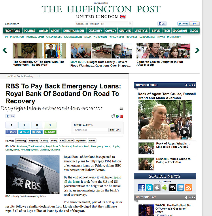 Huffington Post;RBS Headquarters