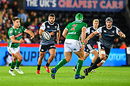 Antonio Rizzi of Benetton Treviso in action during todays match<br /> <br /> Photographer Craig Thomas/Replay Images<br /> <br /> Guinness PRO14 Round 4 - Ospreys v Benetton Treviso - Saturday 22nd September 2018 - Liberty Stadium - Swansea<br /> <br /> World Copyright &copy; Replay Images . All rights reserved. info@replayimages.co.uk - http://replayimages.co.uk