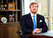 FOTO: ROTAPOOL/ Remko de Waal Toespraak Koning Willem Alexander naar aanleiding van coronavirus<br /> <br /> PHOTO: ROTAPOOL / Remko de Waal Speech by King Willem Alexander on coronavirus