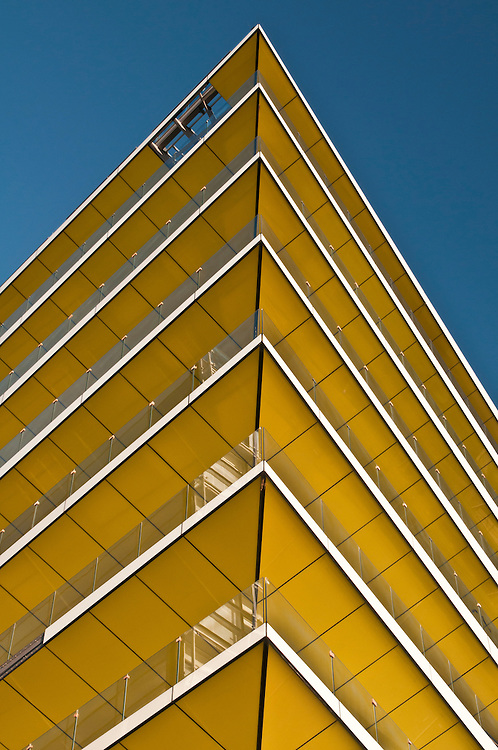 Abstract of apartment building along the Embankment, London, United Kingdom