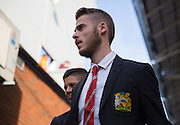 David De Gea of Manchester United before the Barclays Premier League match between Crystal Palace and Manchester United at Selhurst Park, London, England on 31 October 2015. Photo by Phil Duncan.
