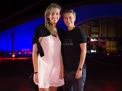 September 30, 2018 - Elise Mertens of Belgium & Demi Schuurs of the Netherlands on the red carpet at the 2018 China Open WTA Premier Mandatory tennis tournament players party (Credit Image: © AFP7 via ZUMA Wire)