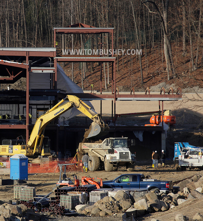 Middletown, New York  - Construction continues on the new elementary school being built next to Chorley Elementary School on Dec. 12, 2011.