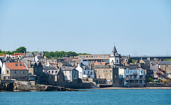 View of town of South Queensferry in West Lothian, Scotland, UK, United Kingdom