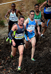 25-11-2012 ATLETIEK: NK CROSS WARANDELOOP: TILBURG<br /> Khalid Choukoud wint het NK maar wordt tweede op de warandeloop. Voorop Jesper Van der Wielen die 6de wordt en rechts winnaar Dame Tasama BEL. <br /> ©2012-FotoHoogendoorn.nl