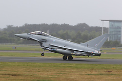 Eurofighter Typhoon, Farnborough International Airshow, London Farnborough Airport UK, 15 July 2016, Photo by Richard Goldschmidt