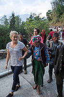 Ruth and Rosa Hollows at Pullarhari Monestry for the outreach micro surgical eye camp held on the outsirks of the Kathmandu Valley 2014.