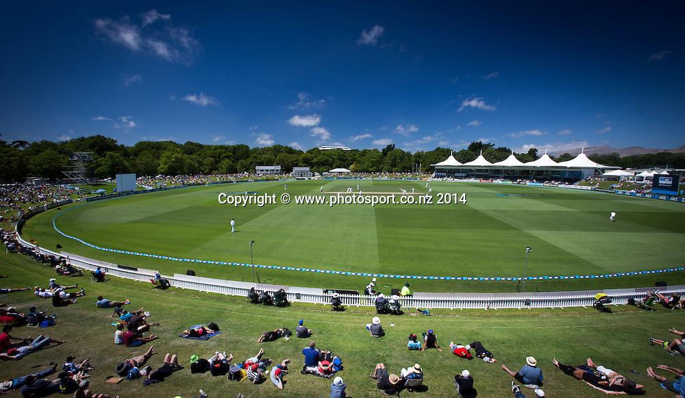 Hagley Park Oval. Day 4, ANZ Boxing Day Cricket Test, New Zealand Black Caps v Sri Lanka, 29 December 2014, Hagley Oval, Christchurch, New Zealand. Photo: John Cowpland / www.photosport.co.nz