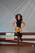 Photo of dancer leaping in the air at the Dublin Irish Festival in Dublin, Ohio.