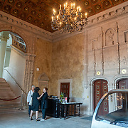 APRIL 20, 2018--MIAMI, FLORIDA<br /> Reception area and ticket table of Miami Dade College's Freedom Tower in downtown Miami.<br /> (PHOTO BY ANGELVALENTIN/FREELANCE)