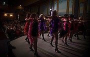 Local residents perform a Vaudeville Show chorus line at the Patricia Theatre in Powell River, BC. (2013)