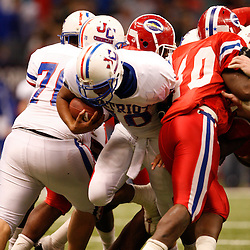 2008 December 12: During the Class 2A LHSAA State Championship game a 35-14 win by the John Curtis Patriots over the Evangel Christian Eagles at the Louisiana Superdome in New Orleans, LA (photo by Derick Hingle/Nola.com)