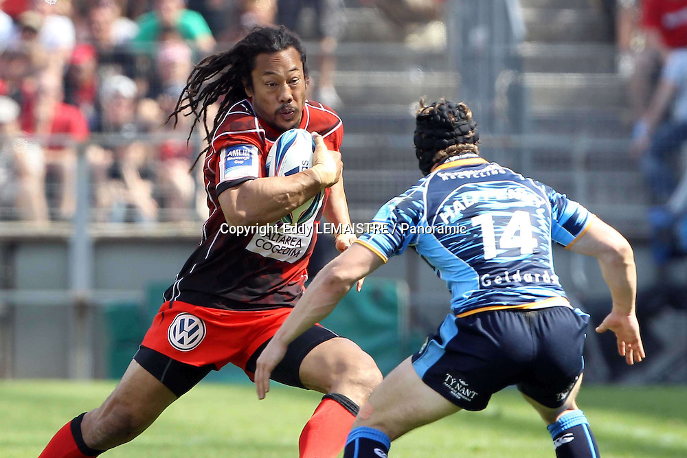 Rugby :   Finale Toulon - Cardiff Blues  - Tana Umaga (RCT) et Leigh Halfpenny (CB) - Amlin Challenge Cup  - Stade Velodrome - Marseille - 23-05-10