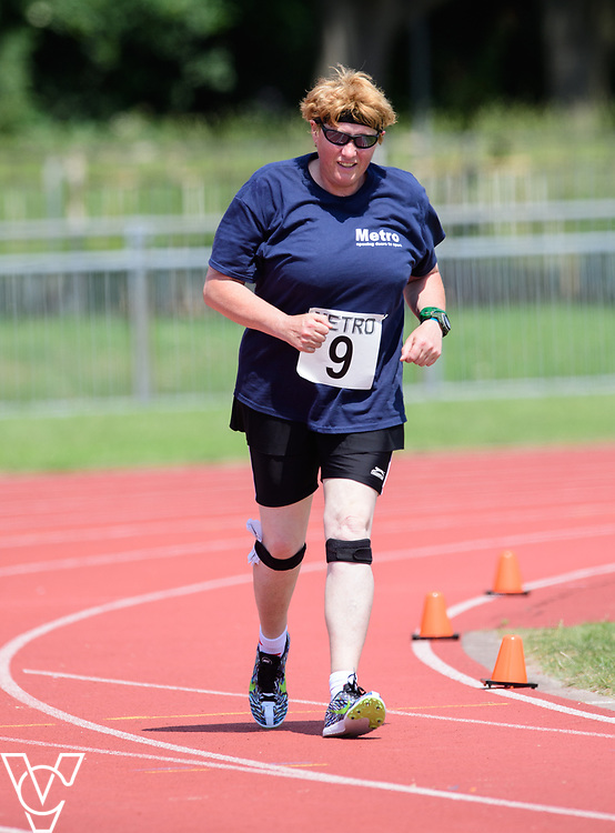 Metro Blind Sport's 2017 Athletics Open held at Mile End Stadium.  800m.  Angela McCool<br /> <br /> Picture: Chris Vaughan Photography for Metro Blind Sport<br /> Date: June 17, 2017