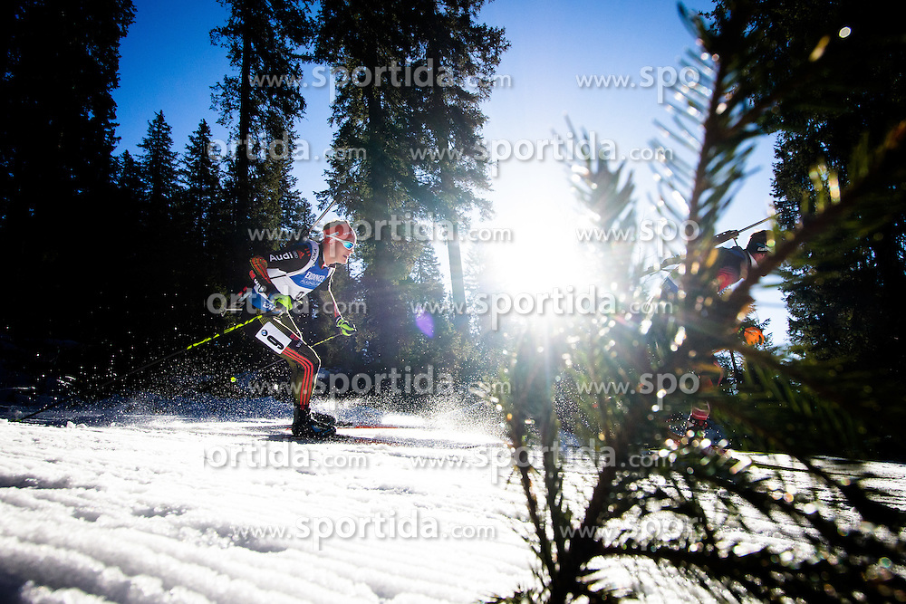 Benedikt Doll (GER) during Men 15 km Mass Start at day 4 of IBU Biathlon World Cup 2015/16 Pokljuka, on December 20, 2015 in Rudno polje, Pokljuka, Slovenia. Photo by Ziga Zupan / Sportida
