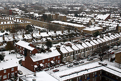 London News Pictures 03/12/10.General view of houses covered with snow in Peckham, South London, UK on Monday the 3 of December 2010 Picture credit should read: Carmen Valino/London News Pictures