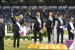 Silver medal, Team Germany, Sandlan Christoph, von Stein Georg, Brauchle Michael<br /> Marathon Driving Competition<br /> FEI European Championships - Aachen 2015<br /> © Hippo Foto - Dirk Caremans<br /> 22/08/15