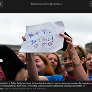 "Screengrab of ""Same-sex marriage referendum in Ireland"" published in The New York Times"