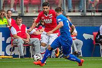 ALKMAAR - 28-08-2016, AZ - NEC, AFAS Stadion, 2-0, AZ speler Alireza Jahanbakhsh, NEC Nijmegen speler Michael Heinloth