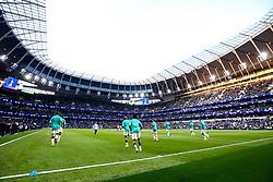 Tottenham Hotspur warm up ahead of the Champions League Semi Final against Ajax - Mandatory by-line: Robbie Stephenson/JMP - 30/04/2019 - FOOTBALL - Tottenham Hotspur Stadium - London, England - Tottenham Hotspur v Ajax - UEFA Champions League Semi-Final 1st Leg