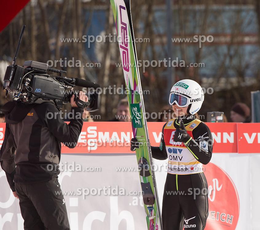 07.02.2016, Energie AG Skisprung Arena, Hinzenbach, AUT, FIS Weltcup Ski Sprung, Hinzenbach, Damen, Bewerb, im Bild Siegerin Sara Takanashi (JPN) // during Ladies Skijumping Competition of FIS Skijumping World Cup at the Energie AG Skisprung Arena, Hinzenbach, Austria on 2016/02/07. EXPA Pictures © 2016, PhotoCredit: EXPA/ Reinhard Eisenbauer