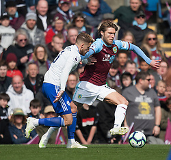 Joe Bennett of Cardiff City (L) and Jeff Hendrick of Burnley in action - Mandatory by-line: Jack Phillips/JMP - 13/04/2019 - FOOTBALL - Turf Moor - Burnley, England - Burnley v Cardiff City - English Premier League