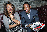 l to r: Danyel Smith and Nick Cannon at The Vibe Magazine private reception in honor of Grammy Award winning Superstar artist and actor, T.I held at The Eldrige on February 9, 2009 in New York City